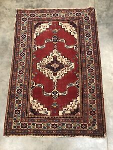 Hand Knotted Tribal Rug 3 9 X 5 5
