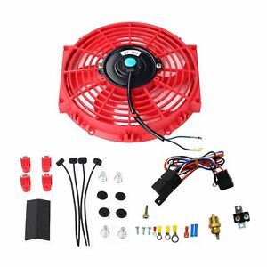 Red Thermostat Relay Mounting 10 Electric Radiator Cooling Fan Kits