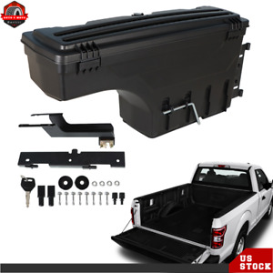 W lock Wheel Well Storage Tool Box Left For 2015 20 Ford F 150 Pickup Truck Bed