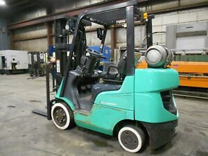 2015 Mitsubishi Fgc25n 5 000 5000 Cushion Tired Forklift W 3 Stage Ss