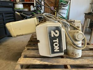 Coffing Electric 2 Ton Chain Hoist And Trolley