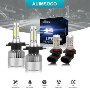 For Toyota Tacoma 2015 2014 2013 2012 Xenon White Led Headlights Fog Bulbs Kit