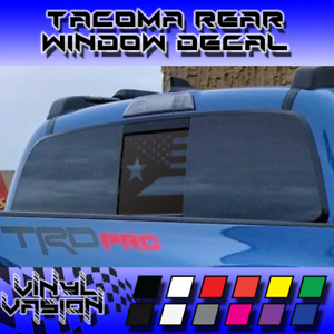 Middle Window Puerto American Flag Decal For Toyota Tacoma 2016 2021