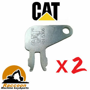 2pcs Master Disconnect Key Heavy Equipment 8398 Replace 8h 5306 For Caterpillar