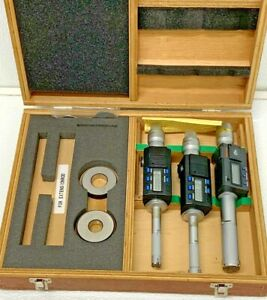Mitutoyo 468 967 3pc Set Digimatic Holtest Inside Bore Micrometer Rings 5 1 35c