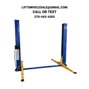 New Triumph 9 000 Lbs 2 Post Auto Lift Floorplate Model 3 Stage Arms 220v