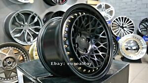 New 15 Inch 4x100 Deep Dish Jdm Concave Bbs Style Wheels For Vw Honda Nissan
