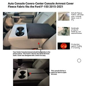 Fleece Center Console Armrest Cover Fits The Ford F 150 F250 2016 2021 F7fl