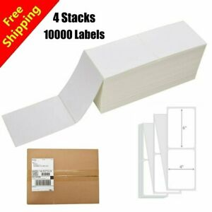 10000 Fanfold 4x6 Direct Thermal Mailing Label For Zebra 2844 Usps Free Shipping