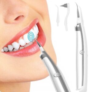 2in1 Sonic Pic Dental Tartar Scaler Plaque Remover Teeth Whitening Cleaning Tool