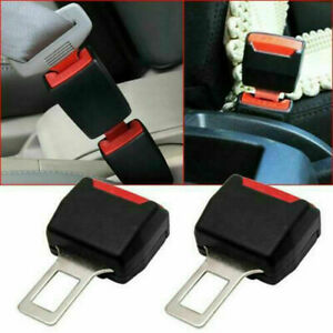 1 Pair Universal Black Seat Belt Buckle Clip Extender Car Safety Alarm Stopper