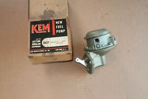 Vintage Nors Kem 4657 1958 1960 Chevy 348 Fuel Pump Bel Air Impala Corvette 1959