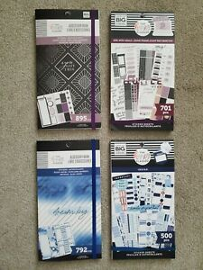 Lot Of 4 Happy Planner Accessory And Sticker Books Brand New Never Used