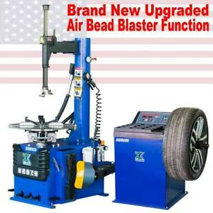 Auto 1 5 Hp Tire Changer Wheel Changers Machine Balancer Rim Clamp Combo 950 680