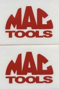 2x Mac Tools 6 Red Decals Stickers For Truck Car Toolbox Windows Shop