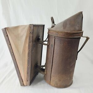 Bee Smoker Vintage Antique Bee Hive Equipment Functional Bellows