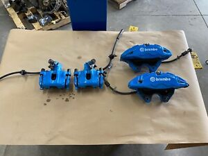 2016 2018 Ford Focus Rs Front Rear 4 Piston Brembo Brake Calipers set Oem
