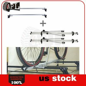 Roof Rack Baggage For Universal Chevy Dodge Ford Honda Crossbar Bicycle Set