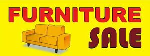 3ft X 8ft Furniture Sale 13 Oz Vinyl Banner Free Shipping new on Sale