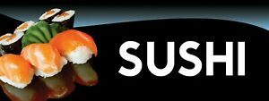 3ft X 8ft Sushi 13 Oz Vinyl Banner Free Shipping new on Sale