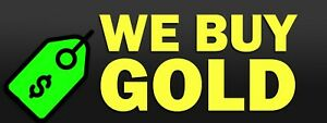 3ft X 8ft We Buy Gold 13 Oz Vinyl Banner Free Shipping new on Sale