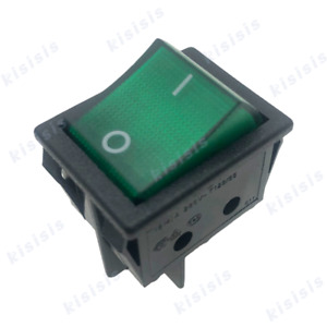 Us Shipping Canal R Series Rocker Switch Green Double Pole 20a 16a 125v 250v