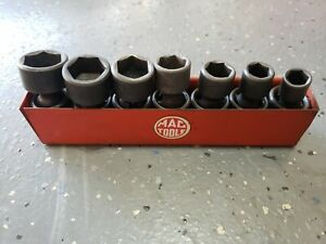 Mac Tools Usa 3 8 Drive 7pc Sae 6pt Shallow Impact Swivel Socket Set Tray