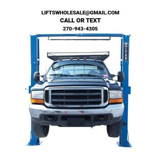 New Titan 11 000 Lb 2 Post Auto Lift Clearfloor Model With Asymmetric Arms