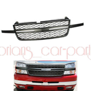 Fit For 2005 2007 Chevy Silverado 2500hd 3500 Front Upper Grill Grille Black