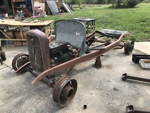 1932 Ford Model B Rolling Chassis Diamond Block Juice Brakes Grille Hot Rod Trog