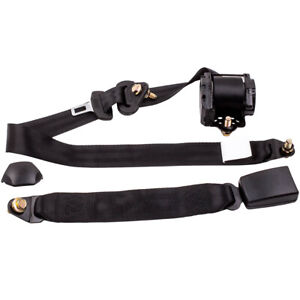 Car Auto Vehicle Adjustable Retractable 3 Point Safety Harness Seat Belt Set