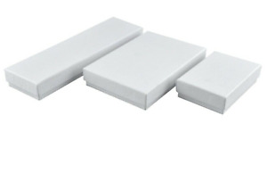 New Bulk Lot Of 70 Lg White Embossed Jewelry Retail Gift Boxes 2 25 X 8 X 1 In
