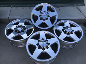 20 Chevy Silverado 2500 Hd 3500 Hd Oem Factory Polished Wheels Rims 8 Lug 8x180