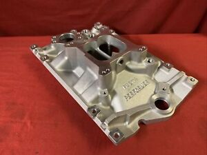 Chevy 4 3 Vortec Edelbrock 2114 Performer Intake Manifold Dual Plane Carb Sniper