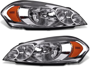 Headlights Fit For 2006 2013 Chevy Impala 06 07 Monte Carlo Chrome Lamp