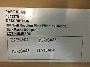 Applied Biosystems Microamp Optical 384 well Reaction Plate