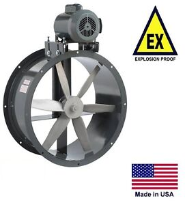 Tube Axial Duct Fan Belt Drive Explosion Proof 18 115 230v 3050 Cfm