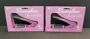 Lot Of 2 Swingline Smarttouch Compact Stapler Pink New Unused