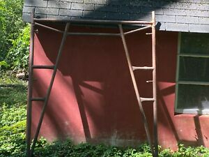 Scaffolding Used 6 Mason Frames Outriggers And Plank Osha Approved Equipment