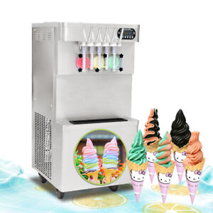 Commercial 5 Flavors Soft Ice Cream Maker 3 2 Mixed Soft Serve Ice Machine