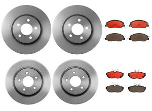 Brembo Front Rear Brake Kit Disc Rotors Ceramic Pads For Ford Mustang 11 12