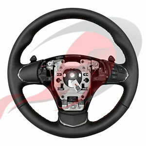 2005 2013 C6 Corvette Gm Automatic Leather Steering Wheel Red Stitching No Bt