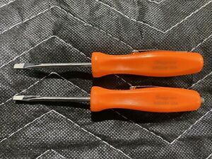 Snap on Tools Orange Mini Pocket Screwdriver Set Flat Tip Sdd204 Sdd224 Usa