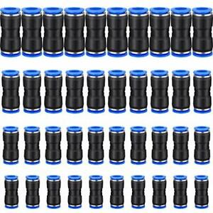40 Pcs Straight Push Connectors Air Line Fittings For 1 4 5 16 3 8 1 2 Tube
