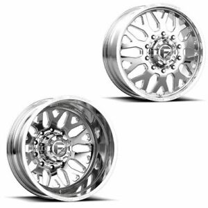 22x8 25 Ff19d Fuel Forged Polished Ford Dodge Dually Wheels 10x225 Set Of 6