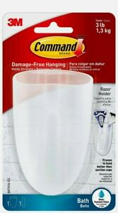 Command Bath Razor Holder Clear Frosted 1 holder 1 Water resistant Strip 3