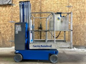 2012 Genie Gr 20 Runabout Manlift Vertical Lift Compact Driveable Awp Genie Lift