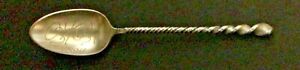 1894 Oshkosh Wisconsin Sterling Silver Spoon With Twisted Handle 5 1 2 62 Oz