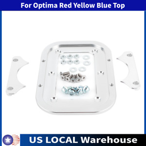 Battery Tray Bracket Hold Down Bracket Relocation Car Optima Red Yellow Blue Top