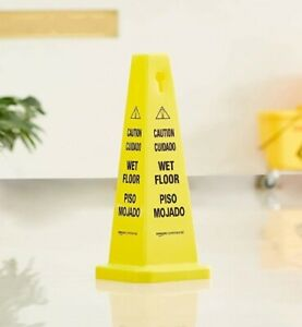 New Amazon Commercial Floor Safety Cone 25 3 4 inch Caution Wet Floor 4 pack